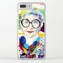 Iris Apfel Fanart Clear iPhone Case