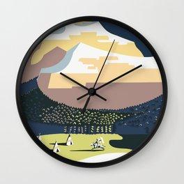 See America - Montana 2 Wall Clock
