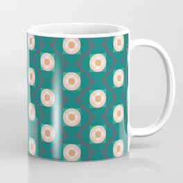 Flower Shapes   Green Coffee Mug