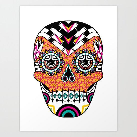 Deco Skull Art Print