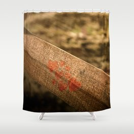 In particular wood Shower Curtain