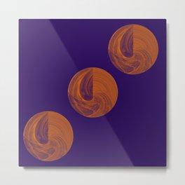 Sphere Geometry Night Abstract Metal Print