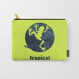 Tropical Frog Papercut Design Carry-All Pouch