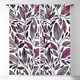 Floral Illustration - Leaf - No*49 Blackout Curtain