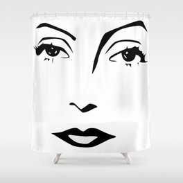 Old Hollywood - Greta Garbo Shower Curtain