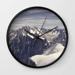 mountain spine Wall Clock