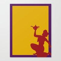 aladdin Canvas Prints featuring Aladdin by JessicaSzymanski