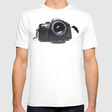 Photographers Love White MEDIUM Mens Fitted Tee