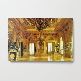 Newport Mansions, Rhode Island - Marble House - Gold Room #2 Metal Print
