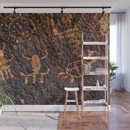 Desert Rock Art - Petroglyphs I Wall Mural