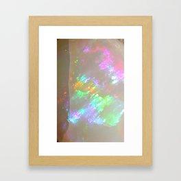 Quartz Opal iridescent holographic faux druse agate crystal gem gemstone geode mineral stone photo Framed Art Print