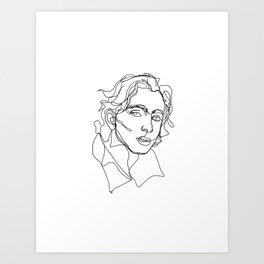 Timothée Chalamet Art Print