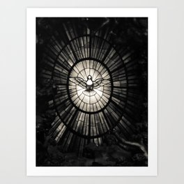 The Holy Spirit as a dove Art Print