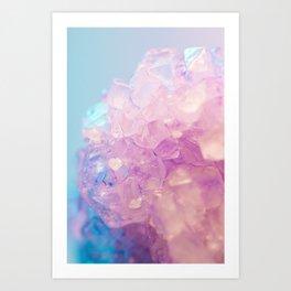 Crystallized Light Colors Art Print