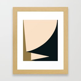 Minimal abstract art Framed Art Print