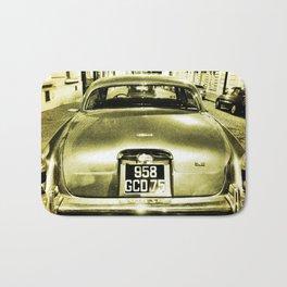 Old Jaguar on the streets of Paris Bath Mat