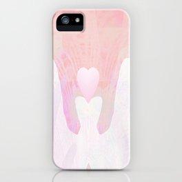 Healing Hands Pink iPhone Case