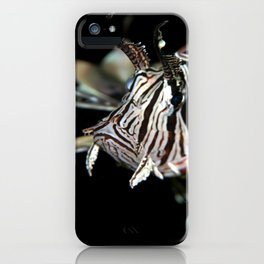 Lionfish in the dark iPhone Case