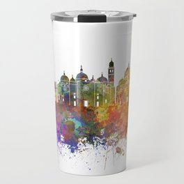 Padua skyline in watercolor background Travel Mug