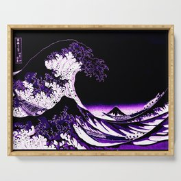 The Great Wave : Purple Serving Tray