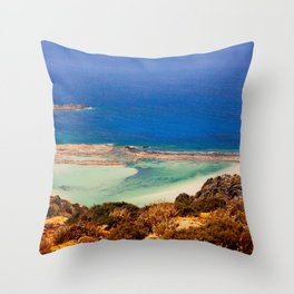 Balos Lagoon, Greece. Throw Pillow