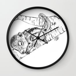 Tiny squirrel Wall Clock
