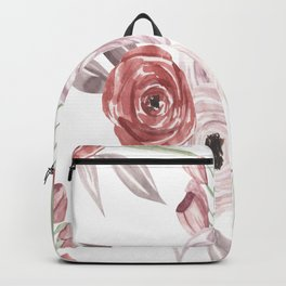 Vintage Floral Pattern Watercolor Backpack