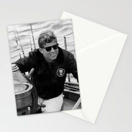 President John Kennedy Sailing Stationery Cards