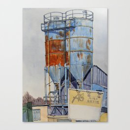 Rusty Silos Canvas Print