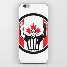 Canadian Football Referee Canada Flag Icon iPhone Skin
