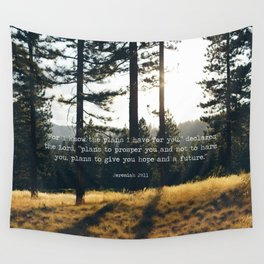 Golden Jeremiah 29:11 Wall Tapestry