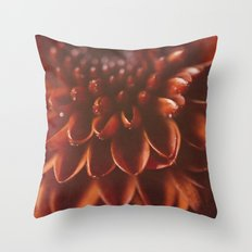 Red Burst Throw Pillow