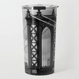 new york city ... manhattan bridge trilogy I Travel Mug