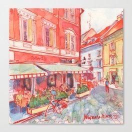 Coffee in Bratislava Canvas Print