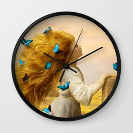 Unfurling Glory Wall Clock