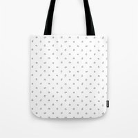 hands Tote Bags featuring Hands by Burnt Toast Creative