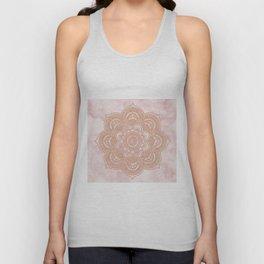 Rose gold mandala - pink marble Unisex Tank Top