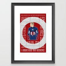 The First Avenger Framed Art Print