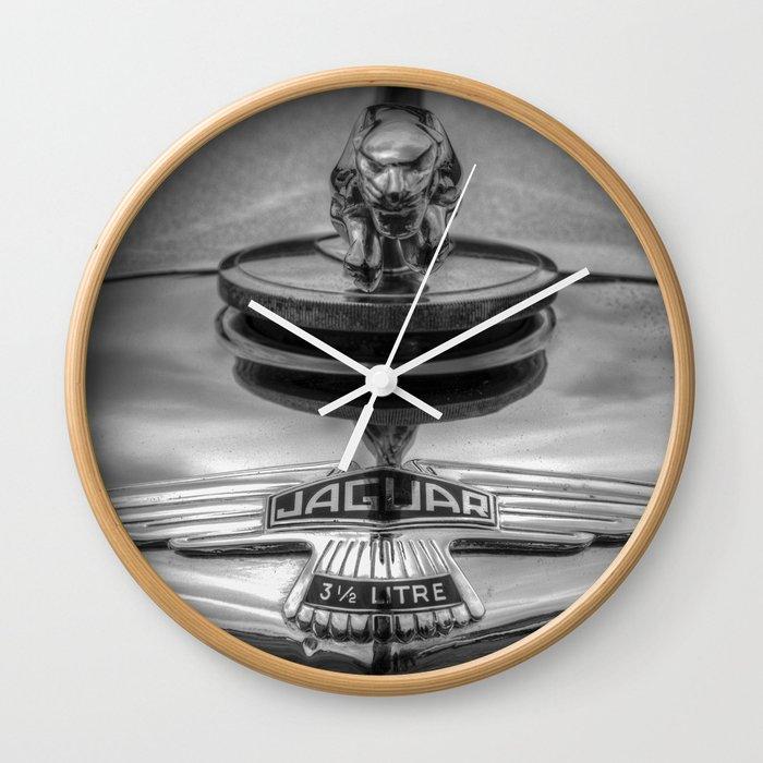 The Jaguar Car Wall Clock By Davidpyatt Society6