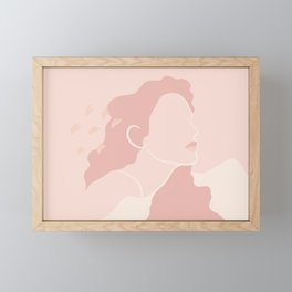 Pink Figure Abstract Design Framed Mini Art Print