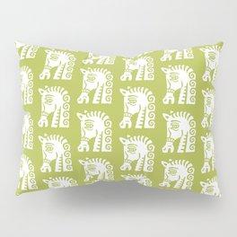 Mid Century Horse Pattern Chartreuse Pillow Sham