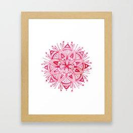 Mandala - Pink Watercolor Framed Art Print