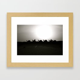 camels Framed Art Print