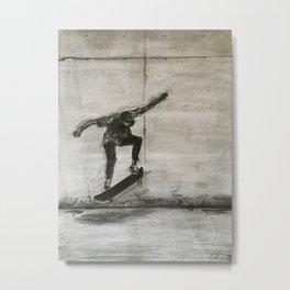 The Skater Metal Print