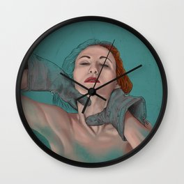 Hard love - A woman disappears Wall Clock