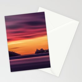 Sunset over the Gulf of Poets, Italy Stationery Cards