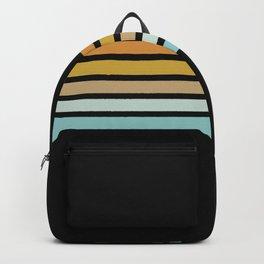 Retro Sunshine Stripes Backpack