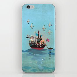 Sea Lover Retro Japanese illustration iPhone Skin