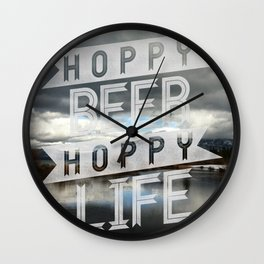 Hoppy Beer Hoppy Life Outdoors Wall Clock