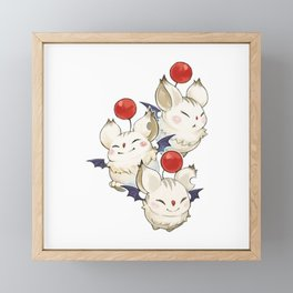 Moogle Moogle final fantasy Framed Mini Art Print